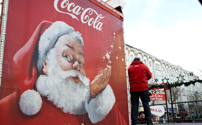 Coca-Cola karácsonyi kamion pompázott Szombathelyen